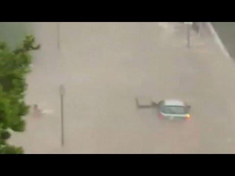 Καταρρακτώδεις βροχές έπληξαν την Μαδρίτη