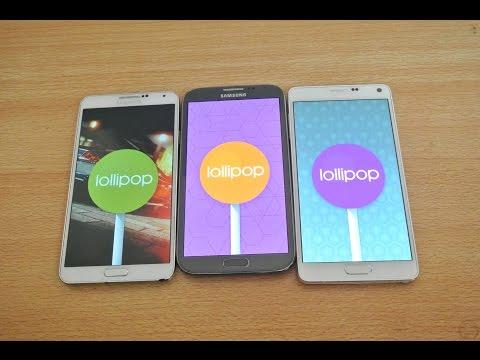 Android 5.0 Lollipop: Samsung Galaxy Note 4 vs Galaxy Note 3 vs Galaxy Note 2 – Speed Test HD