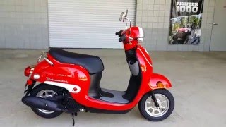 4. 2016 Honda Metropolitan 50cc Scooter / Red | Walk-Around Video | Review at HondaProKevin.com