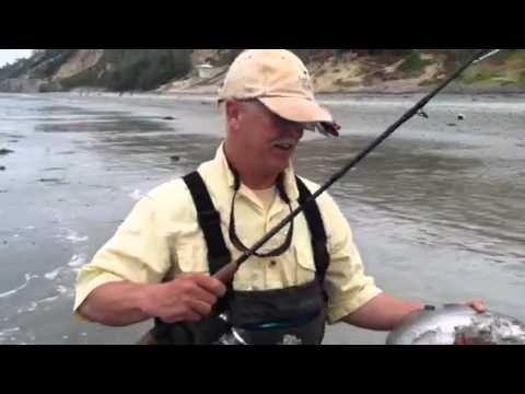 Surf fishing Corbina – CA July 2012
