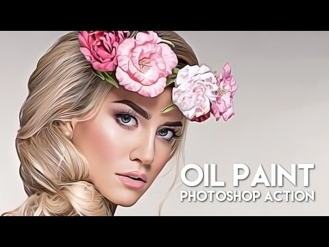 Oil Paint Photoshop Action - How To Use TUTORIAL