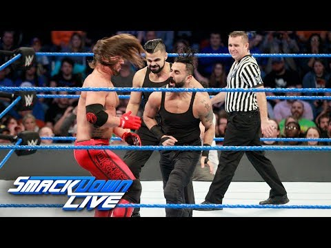 AJ Styles vs. The Singh Brothers - Handicap Match: SmackDown LIVE, Nov. 28, 2017