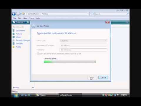 Setup Network Printer on Windows Vista