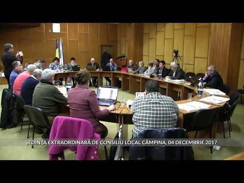 Sedinţa extraordinară Consiliu Local Câmpina 04 decembrie 2017