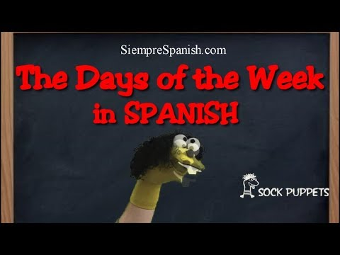 "Spanish ""DAYS OF THE WEEK"" Song (slow To Fast)"