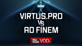 Virtus.pro vs Ad Finem, ESL One Genting Quals, game 2 [Mila, 4ce]