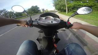 7. Keeway Fact Evo 50cc GoPro hero black