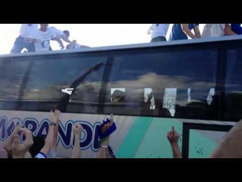 Pro Patria, l'arrivo della squadra allo Speroni