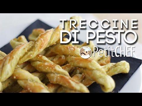 treccine di pesto e parmigiano - ricetta