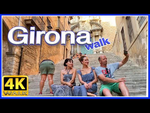 【4K】WALK GIRONA Catalunya SPAIN 4k video SLOW TV travel vlog