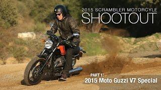 6. 2015 Moto Guzzi V7 Special - Scrambler Shootout Part 1 - MotoUSA