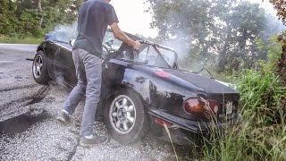 Had an awesome time hanging out with the Novice crew and shooting a sick burnout video! Actually used 5 cameras to shoot it! Can't wait for round 2, if Gabe didn't use new tires, or had his water line fly off, he would have shot even more sparks off the wheels! Stay tuned guys!