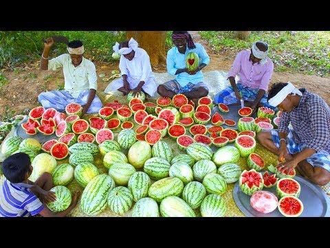500 KG WATERMELON | Summer Health Drinks | WaterMelon Juice from Farm Fresh Fruits | Village Cooking