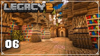 WE FOUND A MYSTERIOUS UNDERGROUND LIBRARY - Legacy SMP 2: Episode 6 (Minecraft 1.16 Multiplayer)