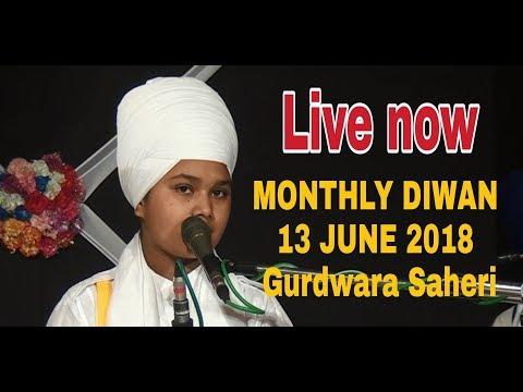 Video MONTHLY DIWAN 13 JUNE 2018 Gurdwara Saheri | Bhai Parampreet Singh  Ji Khalsa  Nathmalpur download in MP3, 3GP, MP4, WEBM, AVI, FLV January 2017