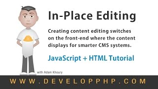 In Place Editing CMS Development HTML JavaScript Tutorial