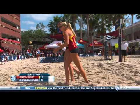 Beach Volleyball: USC 3, UCLA 2 - Highlights (Pac-12 Semifinals)