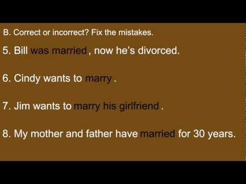 Get married, be married, or marry quiz