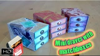 Hi everybody, in this video we teach you how to make mini drawers with matchboxes, enjoy !----------------------- Follow us in Social Media   -------------------------Facebook : https://www.facebook.com/PH-Handmade-458911934269450/?ref=hlTwitter      :  https://twitter.com/PH_handmadeİnstagram :  https://www.instagram.com/ph_handmade/Skype         :  P&H Handmade