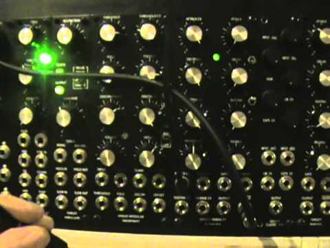 krisp1 - Prototype Oakley Sound System-Krisp1 VC-Looping-ADSR-VCA in use as a VCO Driven by a Dot com Q119 No other modules used.