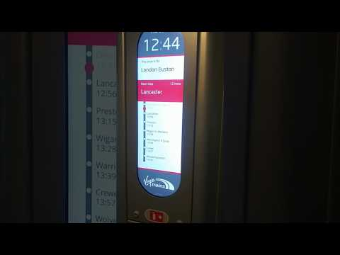 Virgin West Coast new interior information screens on Pendolino 390047