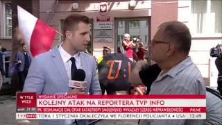 Reporter TVP ośmieszony na wizji przez starszego Pana :)