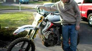 10. 2004 crf450r start up and walk around ( cold  start)*******for sale********