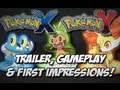 Pokmon X and Pokmon Y Trailer, Gameplay & First Impressions! [3DS]