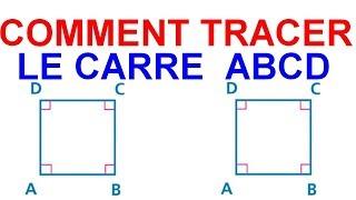 Maths 6ème - Les Bases De La Géométrie : Le carré Exercice 22