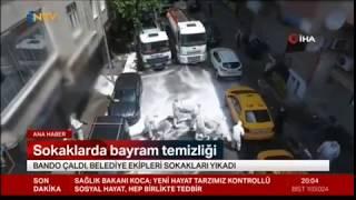 Gaziosmanpaşa Belediyesi Ve Eyüp Belediyesi Ortak Sokak Temizleme Çalışması - Ntv