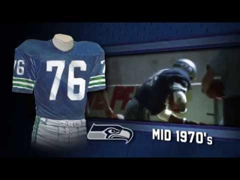 Seattle Seahawks uniform and uniform color history