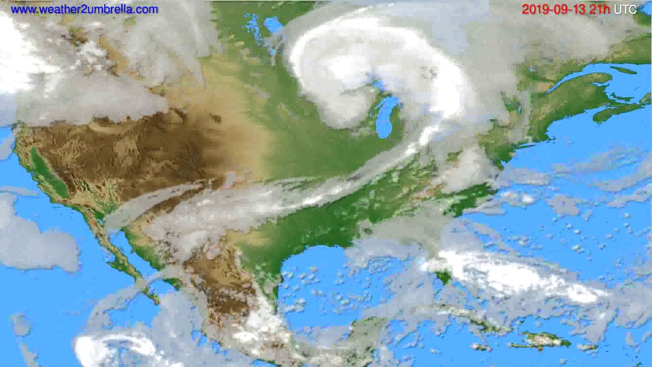 Cloud forecast USA & Canada // modelrun: 00h UTC 2019-09-12