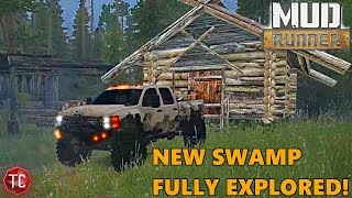 SpinTires MudRunner: MORE CABINS! NEW Swamp Map, Full Exploration! Part 2
