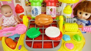 Video Baby doll and grill kitchen food cooking toys play MP3, 3GP, MP4, WEBM, AVI, FLV Oktober 2017
