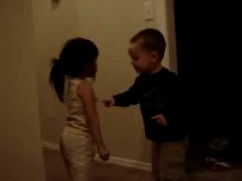 Cute Little Kids Arguing.