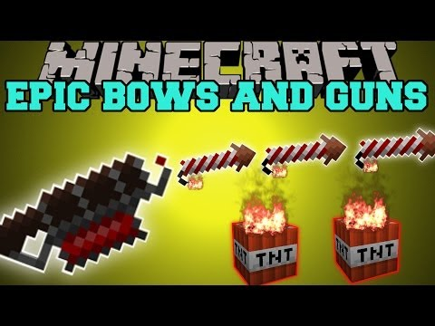 Minecraft: EPIC BOWS AND GUNS (RAPID FIRE, SPRAY SHOTS, POTION EFFECTS!) Mod Showcase