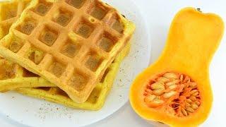 Тыквенные вафли ☆ Pumpkin waffles