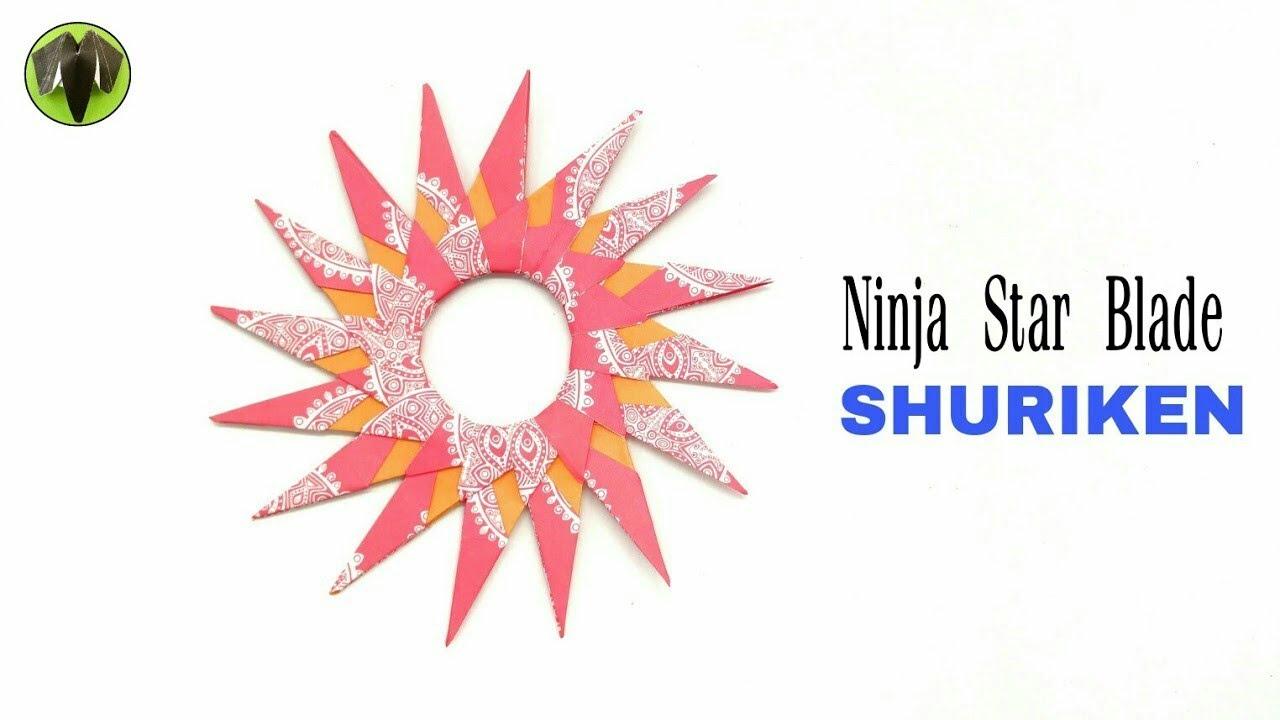 16 Pointed Ninja Star Blade Shuriken DIY Origami Tutorial