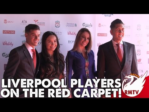 Liverpool Players On The Red Carpet!