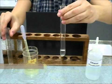 Ethanol emulsion test for fats