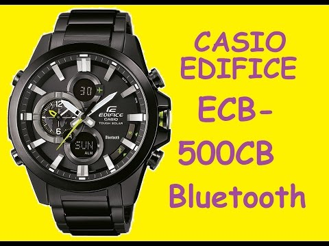Обзор и настройка часов Casio Edifice ECB-500DC-1AER | Review and setting Casio Edifice ECB-500DC (видео)
