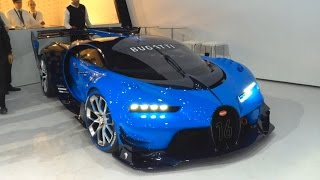 Video Bugatti Vision GT - real car start up, revving, moving MP3, 3GP, MP4, WEBM, AVI, FLV April 2019