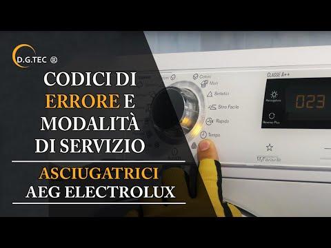 Modalità di servizio asciugatrice Rex Electrolux Aeg, lettura codici errore e diagnostica
