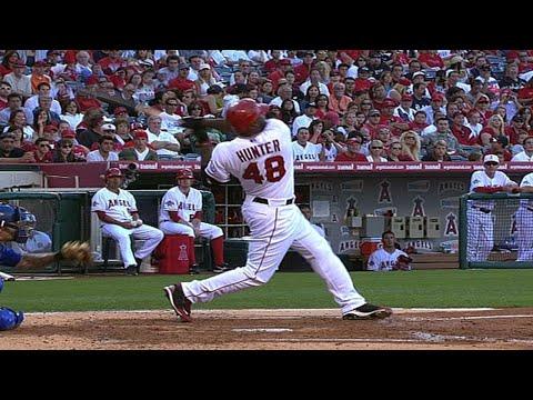 Video: KC@LAA: Hunter drives in seven on three hits