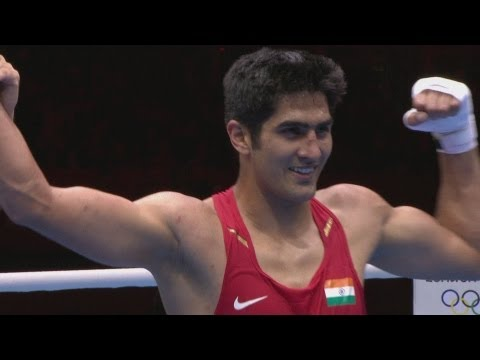 IND V KAZ - Boxing Middle (75kg) Round Of 32 | London 2012 Olympics