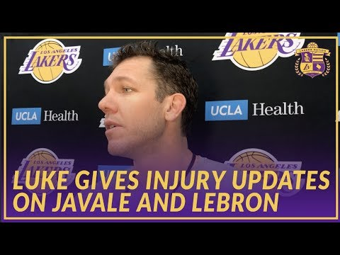 Video: Lakers Interview: Luke Walton Gives An Injury Update On JaVale McGee and LeBron James