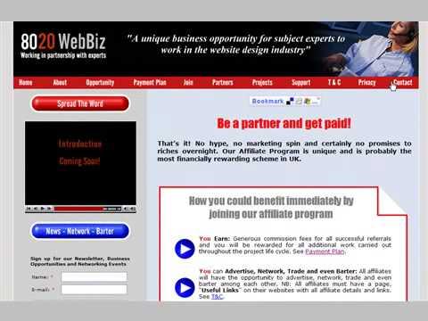 Website design affiliate program – 8020 WebBiz