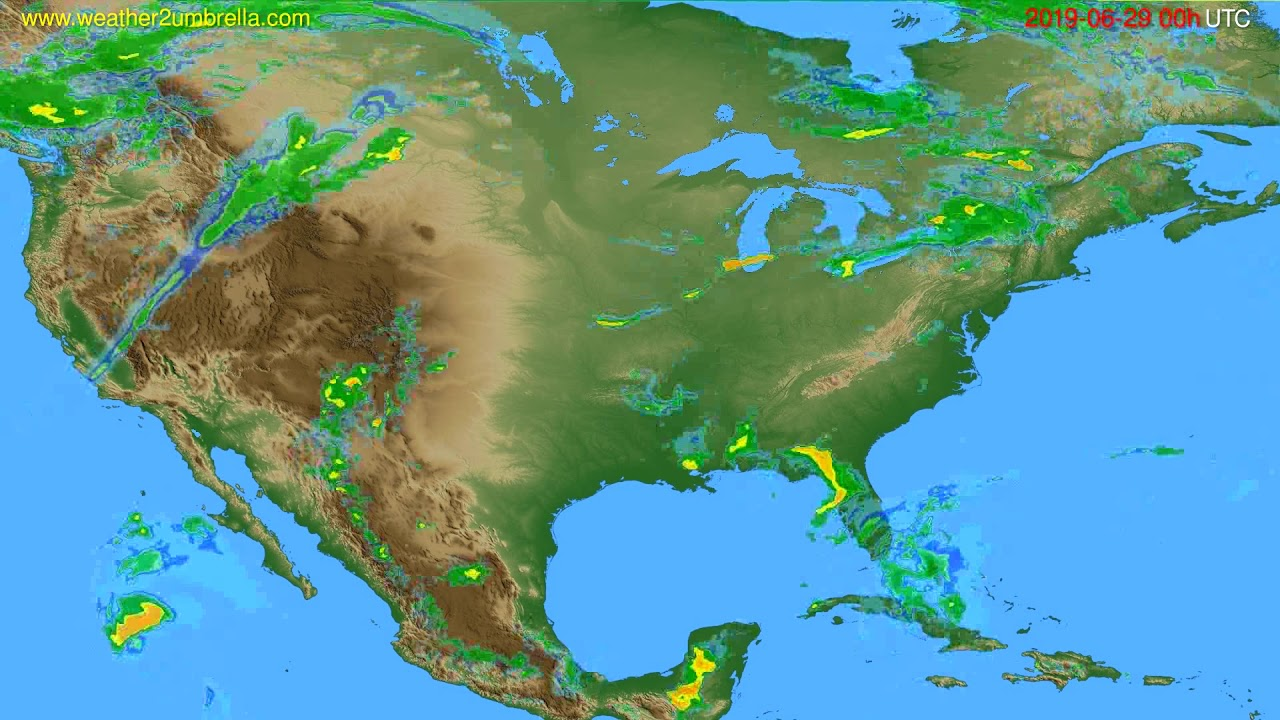 Radar forecast USA & Canada // modelrun: 12h UTC 2019-06-28