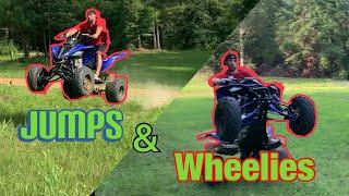 8. Jumping and Wheelies on Yamaha Raptor 700r