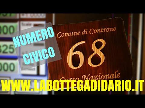 Numero Civico in Legno - CNC Router